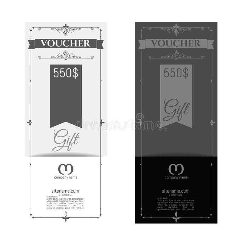 Retro presentkort och ett ställe för text, logo, information om kontakt royaltyfri bild