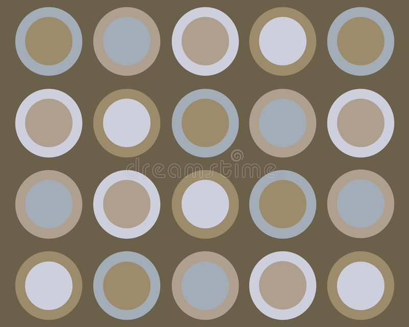 Retro priorità bassa blu e marrone dei cerchi royalty illustrazione gratis
