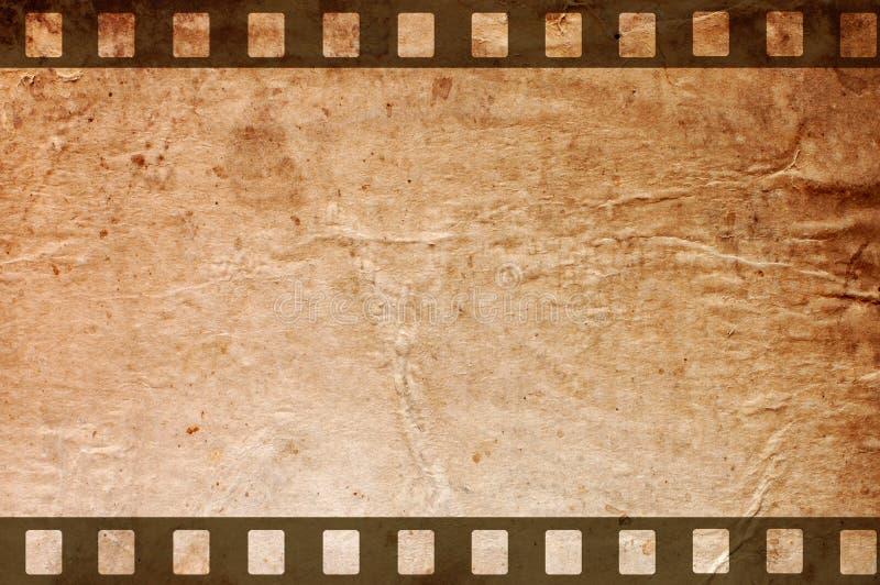 Retro priorità bassa del grunge con le strisce della pellicola fotografia stock