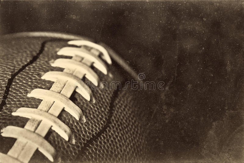 Retro priorità bassa di football americano di Grunge fotografia stock libera da diritti