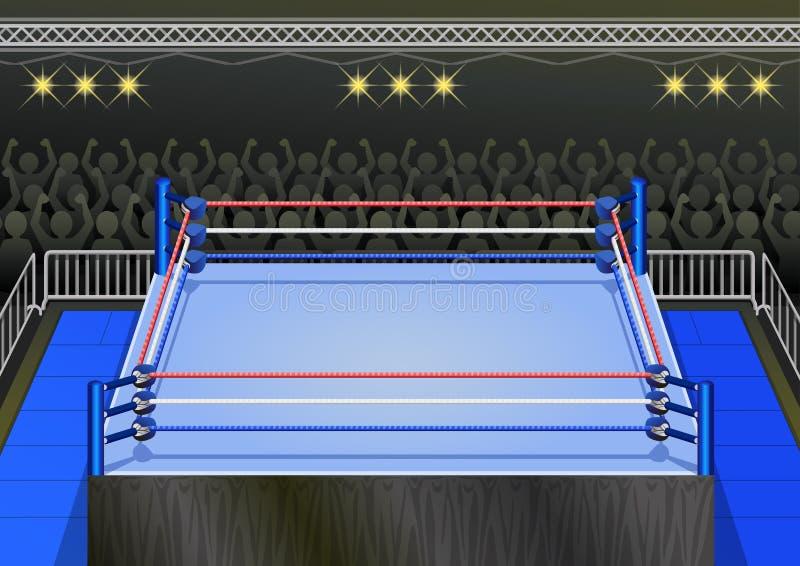 Retro Pro Zapaśnicza arena royalty ilustracja