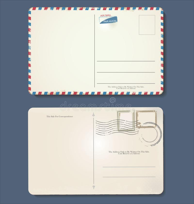 Retro progettazione d'annata della cartolina vuota di lerciume royalty illustrazione gratis
