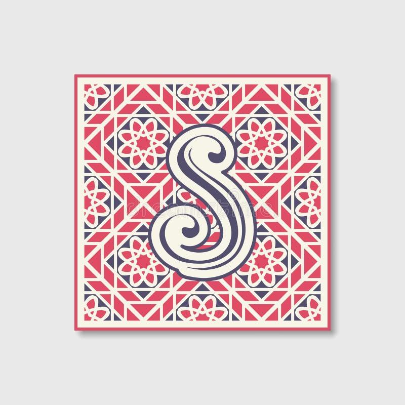 Retro progettazione del monogramma di vettore royalty illustrazione gratis