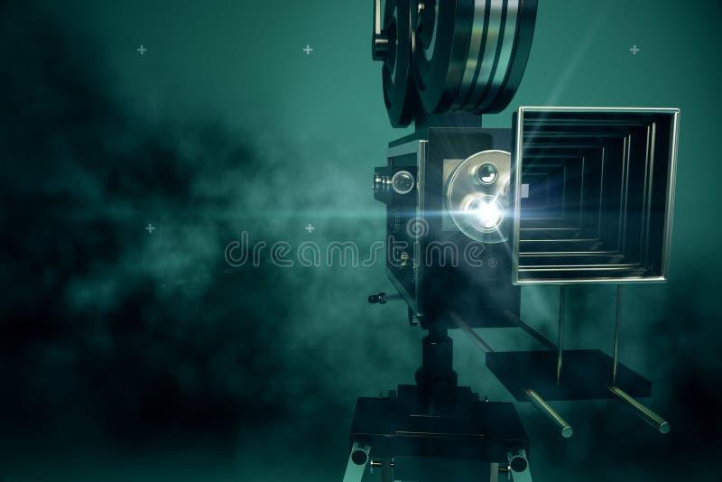 Retro proiettore di film illustrazione di stock