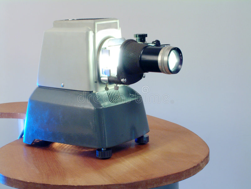 Retro projector stock photography