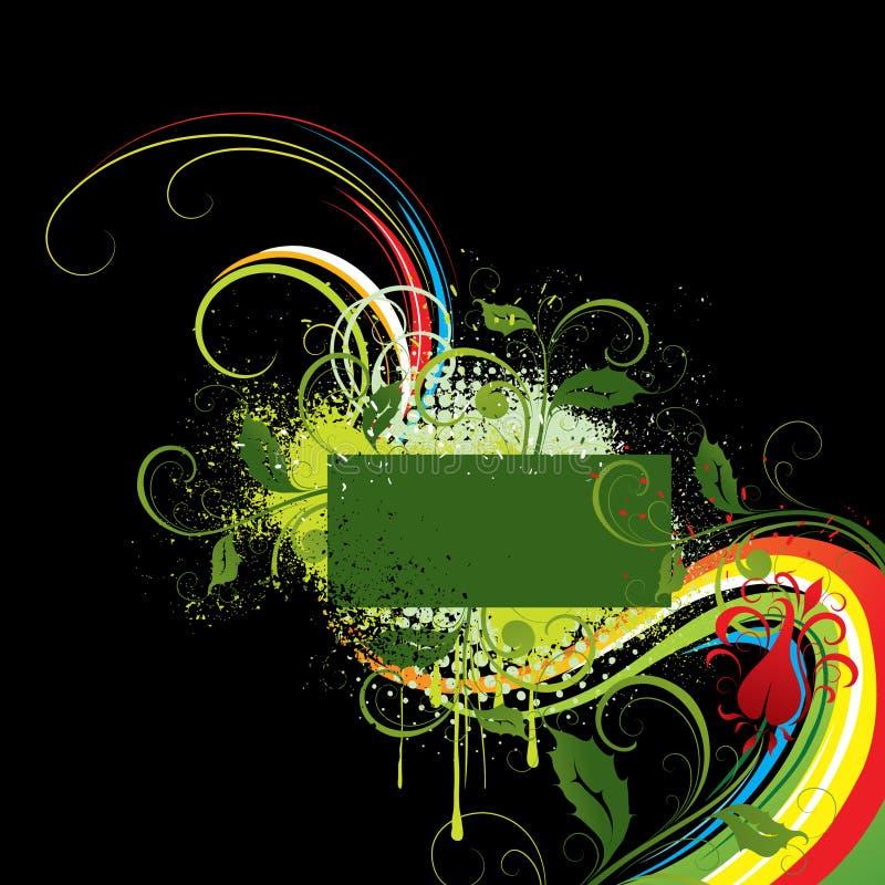 retro projekt kolorowa rama royalty ilustracja