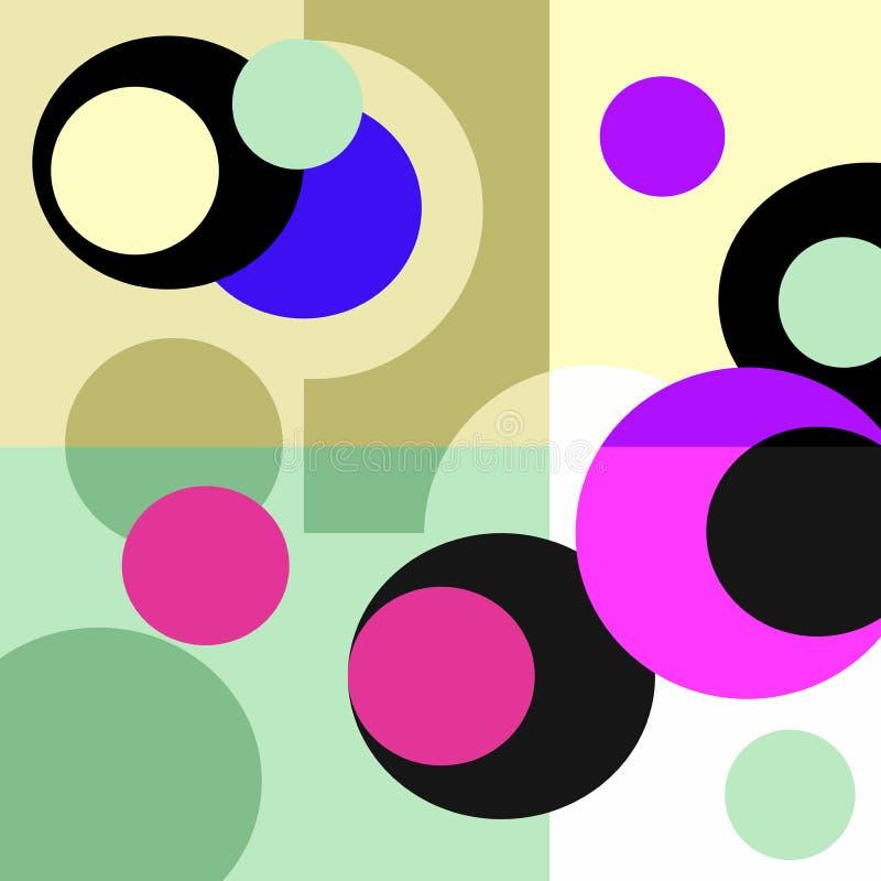 Retro przejrzyści kształty ilustracja wektor