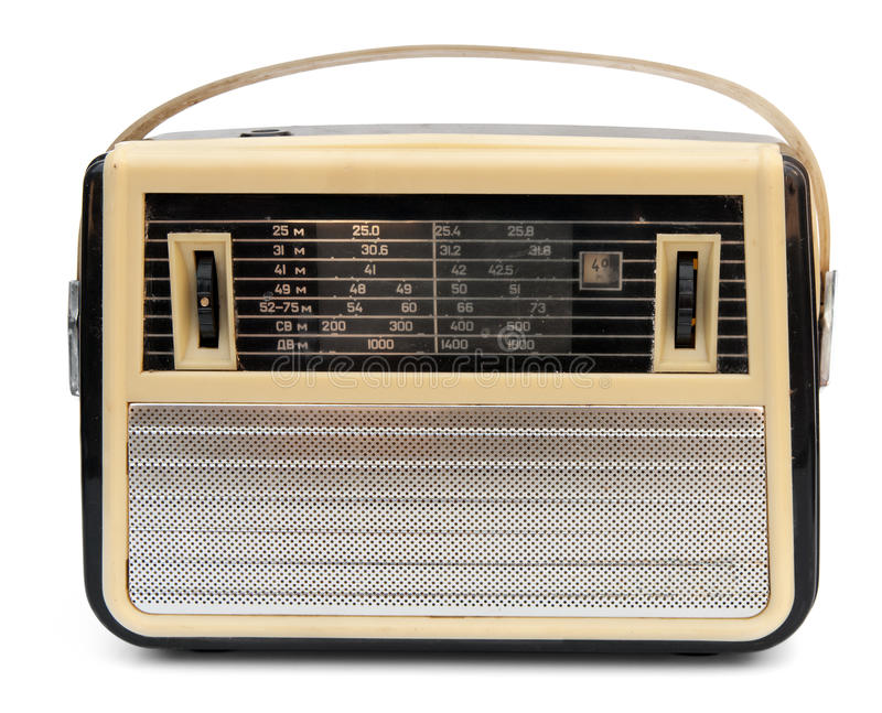 Retro przenośny radio fotografia royalty free