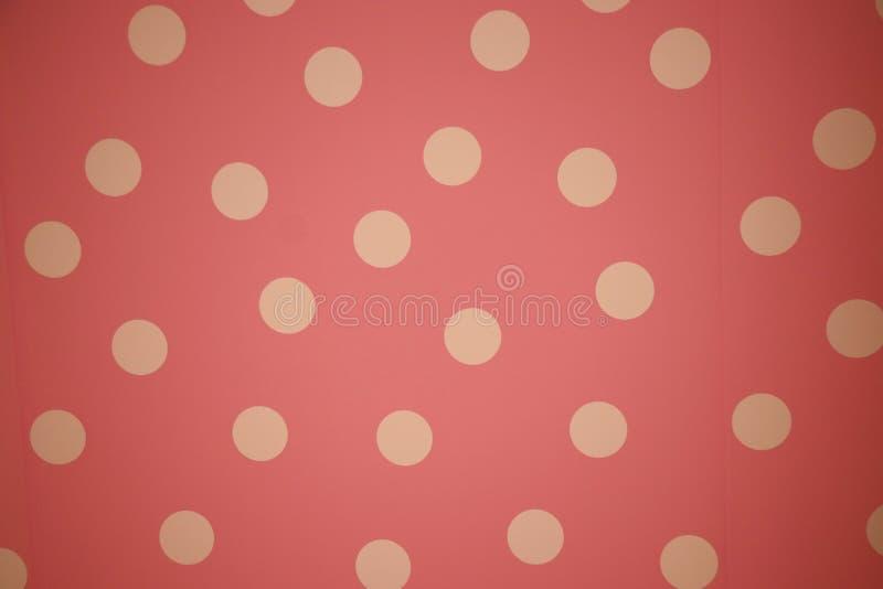 Retro- Punkte wiederholen Muster, das nahtloser Entwurf auf der Wandklassiker- und -weinleseart verzieren lizenzfreies stockbild