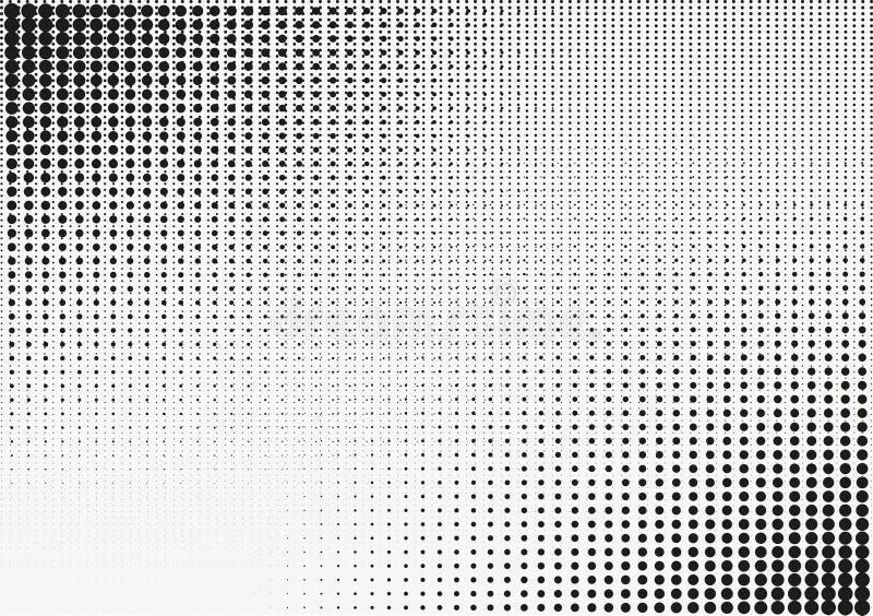 Retro- Punkthalbton des Vektors stockbild