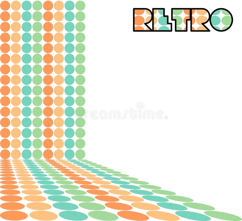 Retro punten royalty-vrije illustratie
