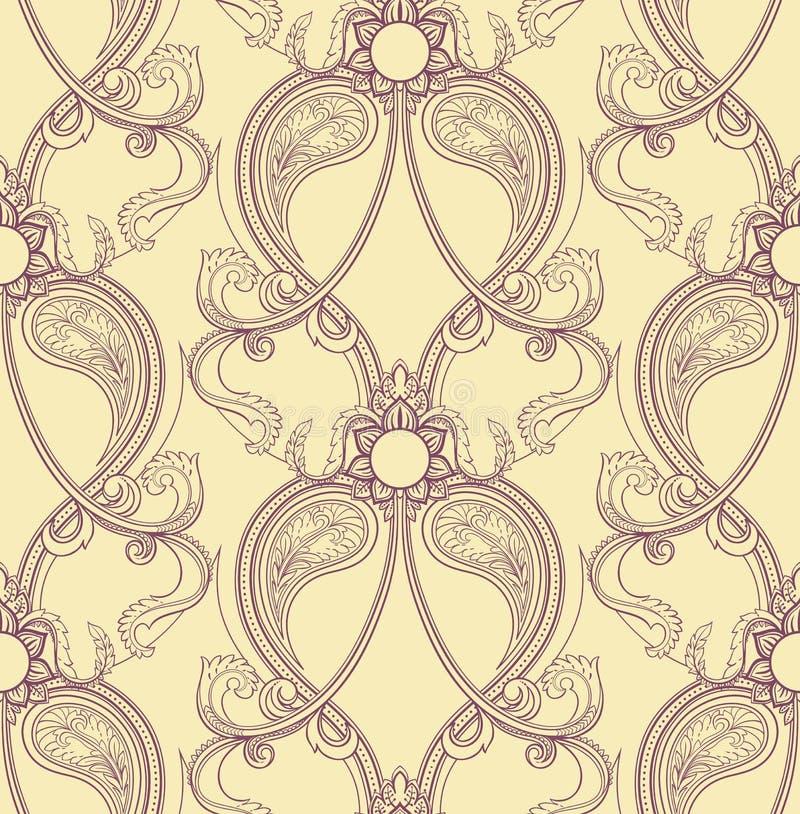 Retro purper patroon vector illustratie