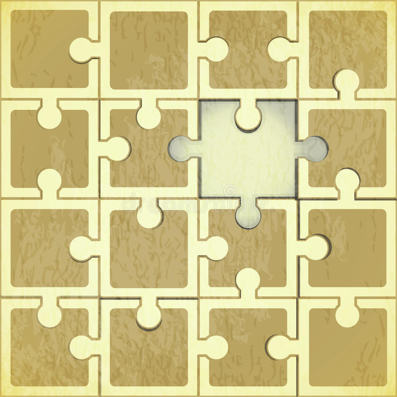Retro Puzzle Background Stock Images
