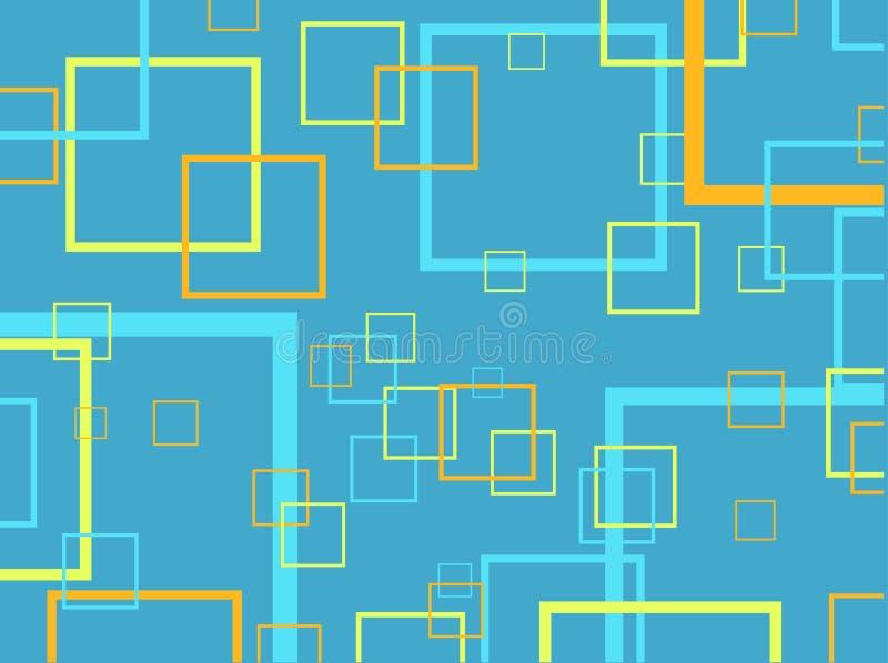 Retro- Quadrate lizenzfreie abbildung