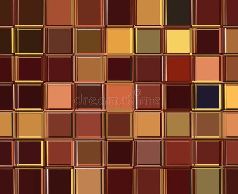 Retro- Quadrate in den warmen Farben lizenzfreies stockfoto