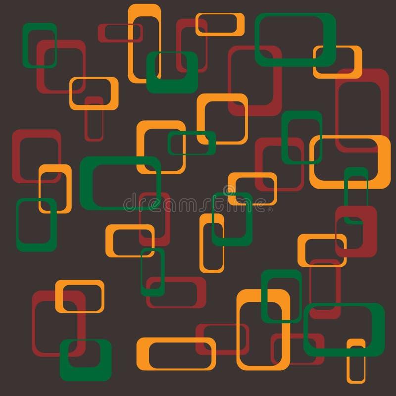 Retro- Quadrathintergrund lizenzfreie abbildung