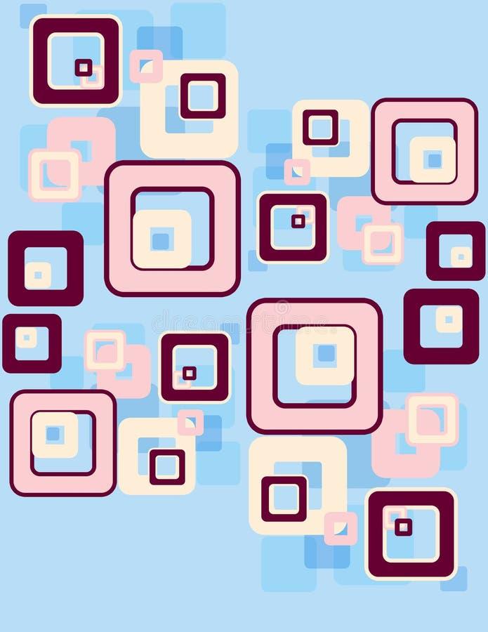 Retro- Quadratmuster lizenzfreie abbildung