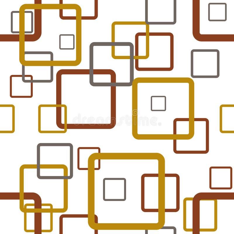 Retro quadrato regolare illustrazione di stock