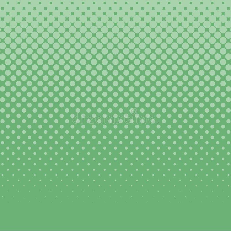 Retro quadro televisivo comico del fondo di Pop art verde caldo illustrazione di stock