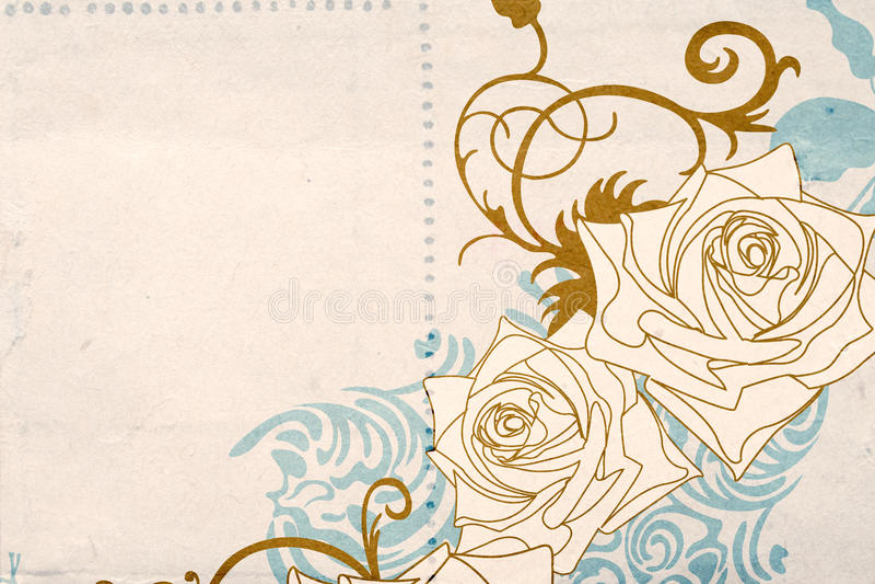 retro róże ilustracji