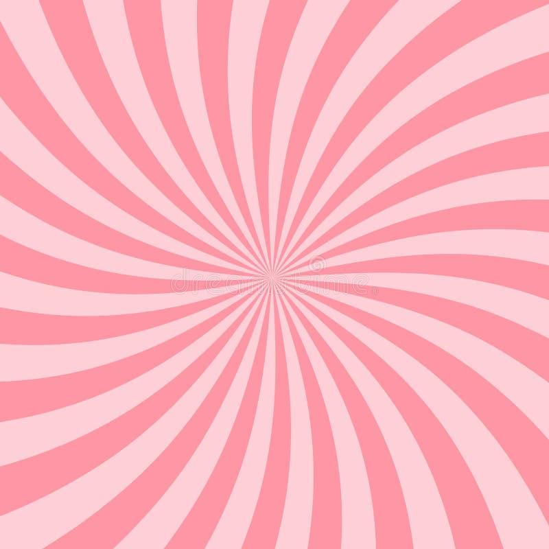 Retro Różowy Starburst tła rocznika gwiazdy Ray tło royalty ilustracja