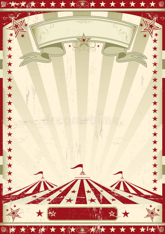 Retro röd cirkus. stock illustrationer
