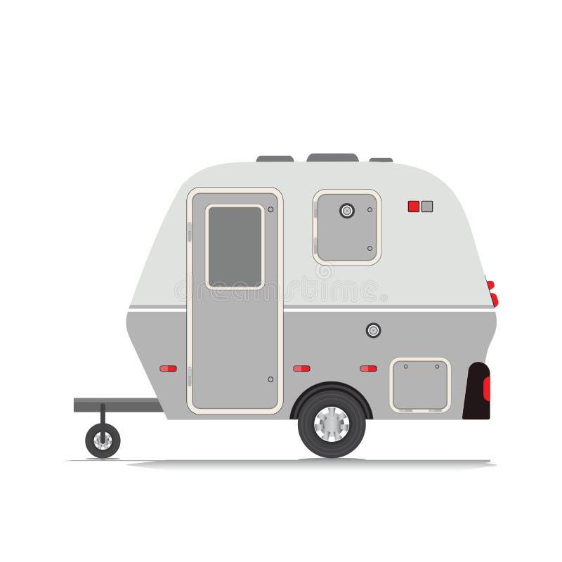 Retro raccolta del rimorchio di campeggiatore illustrazione vettoriale