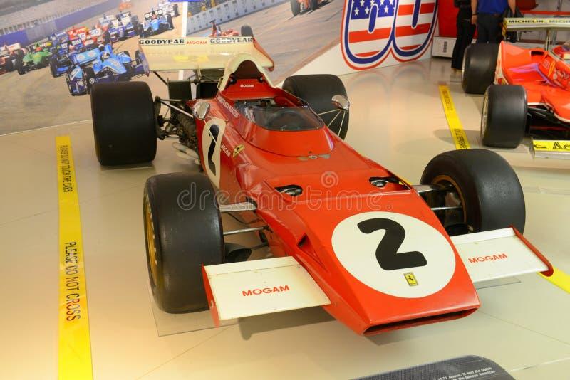 Retro raceauto van Ferrari F1 Formule 1 royalty-vrije stock afbeeldingen