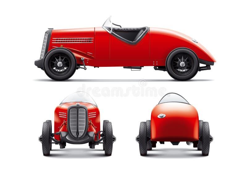 Retro racing car. Antique stock photos