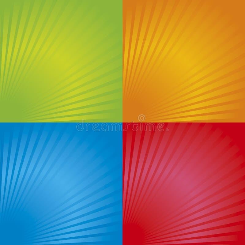 Retro- Radialhintergrund 03 lizenzfreie abbildung