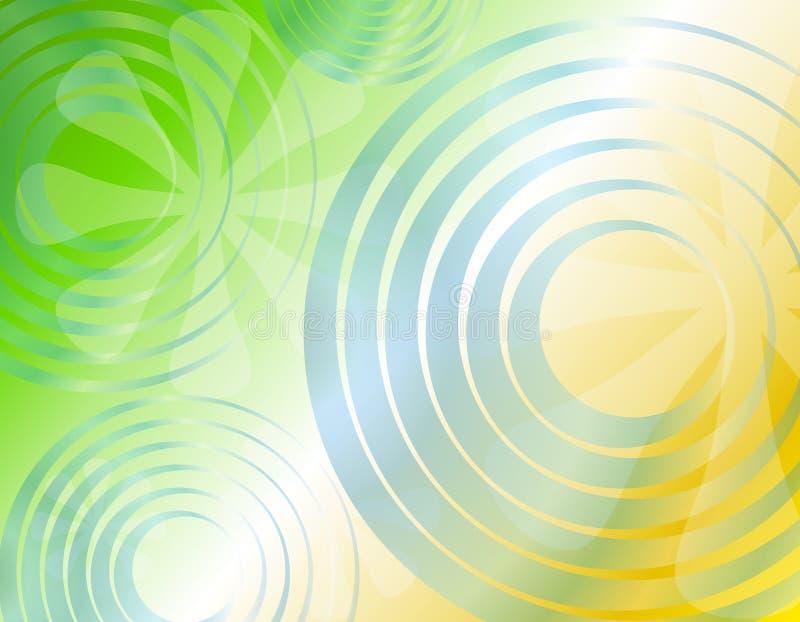 Retro- Radialkreis-Blumen-Hintergrund 2 vektor abbildung