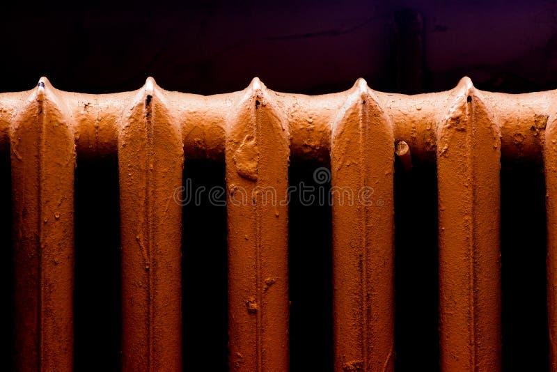 Retro radiatore di calore fotografia stock libera da diritti