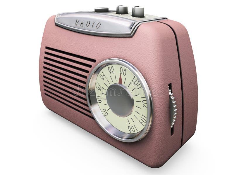 Retro radio royalty-vrije illustratie