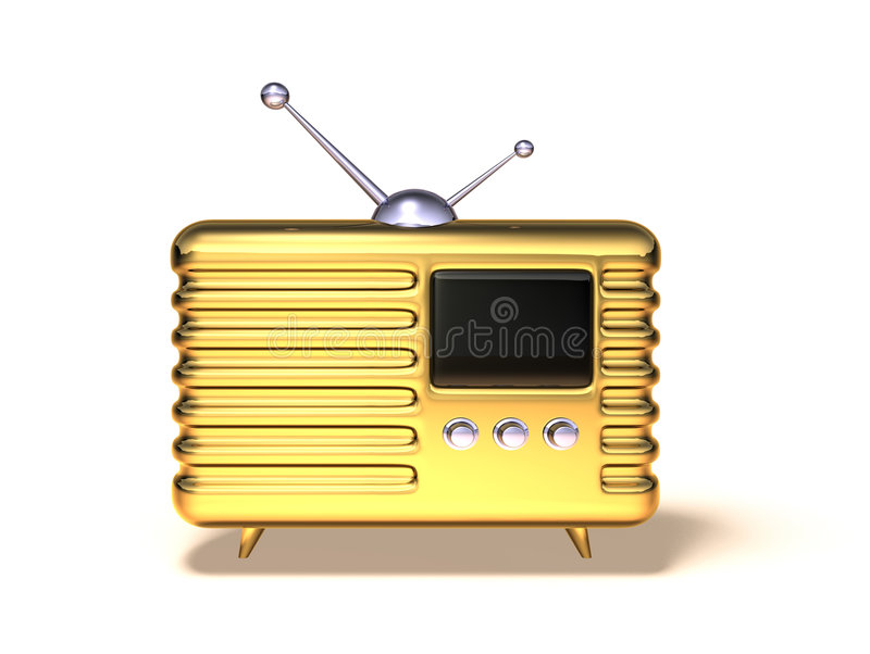 Retro radio illustrazione vettoriale
