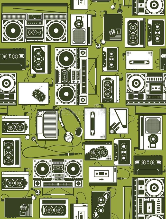 retro radio vektor illustrationer