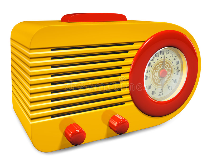 Retro Radio vector illustratie