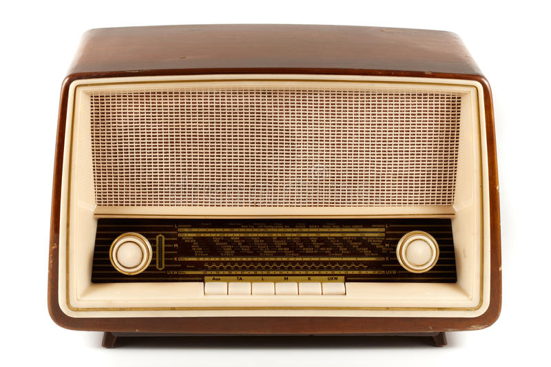 retro radio obrazy royalty free