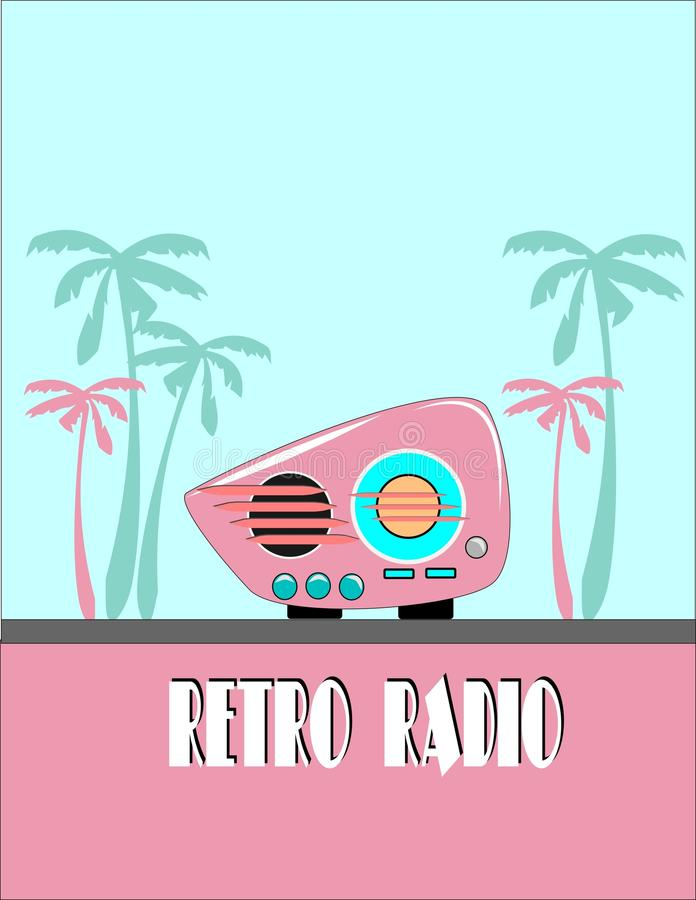 retro radio vektor illustrationer