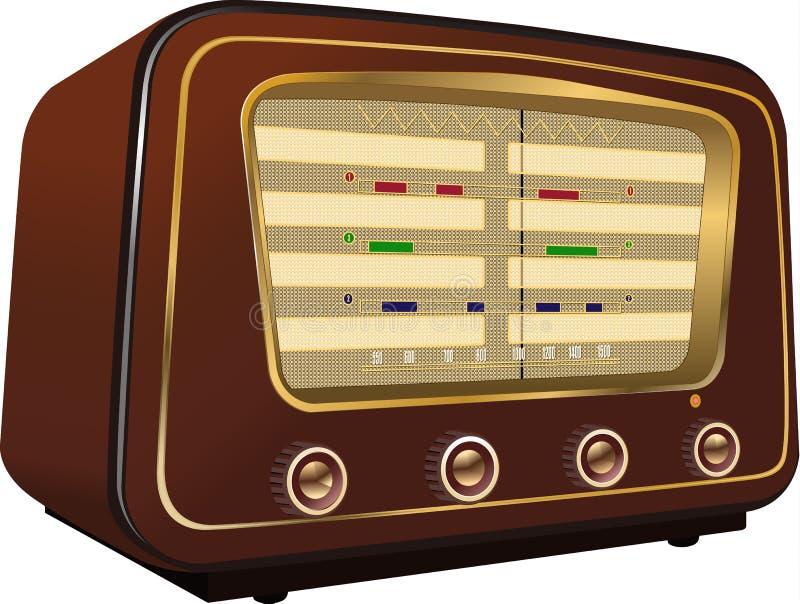 Retro radio immagine stock