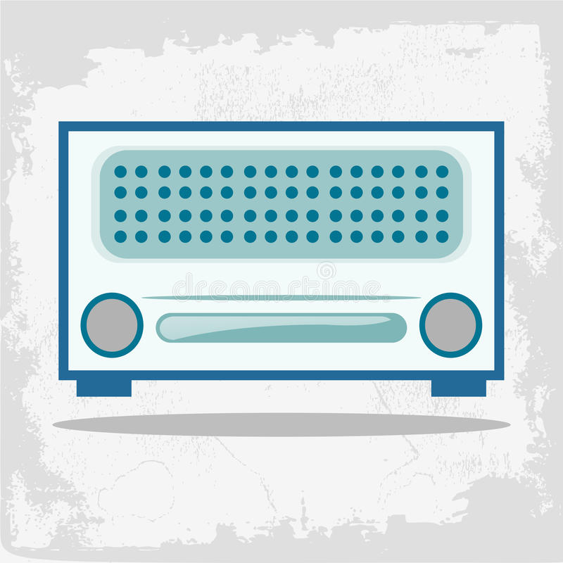 Retro radio ilustracji