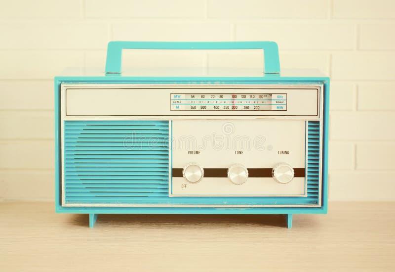 Retro- Radio stockbild