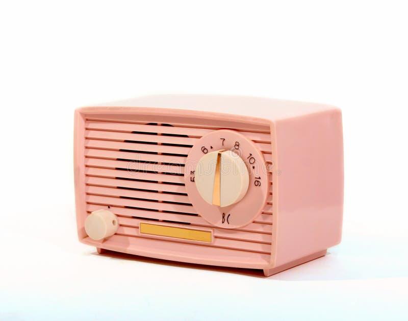 Retro radio di di rosa immagini stock libere da diritti