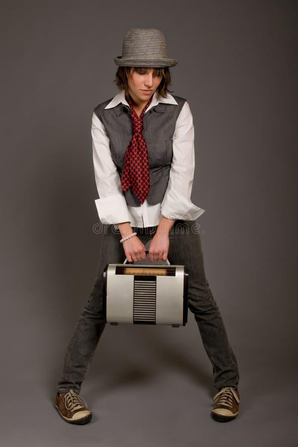 Retro Radio Hipster stock photos