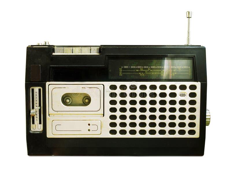 Retro radio (registratore di nastro) immagine stock