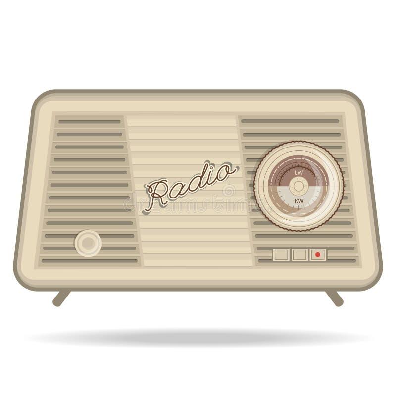Retro radio, retro anordningar vektor illustrationer