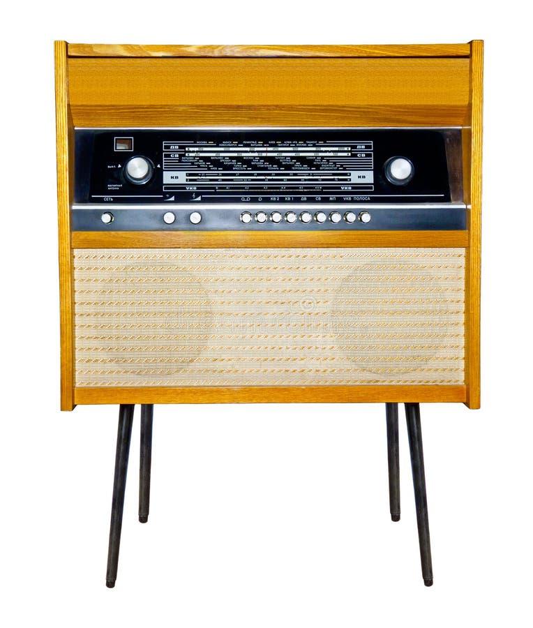 Retro Radio and Vinyl player. Retro Radio and Vinyl Discs Turntable player stock photography