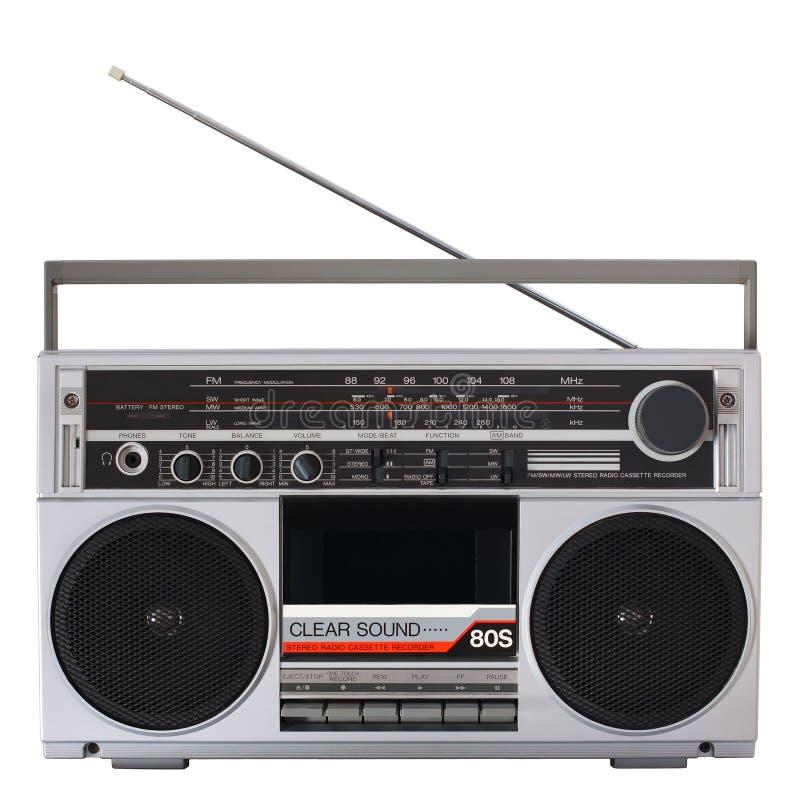 Retro radiocassettespeler royalty-vrije stock fotografie