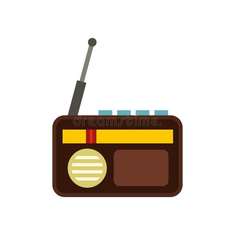 Retro radiowa ikona, mieszkanie styl ilustracji