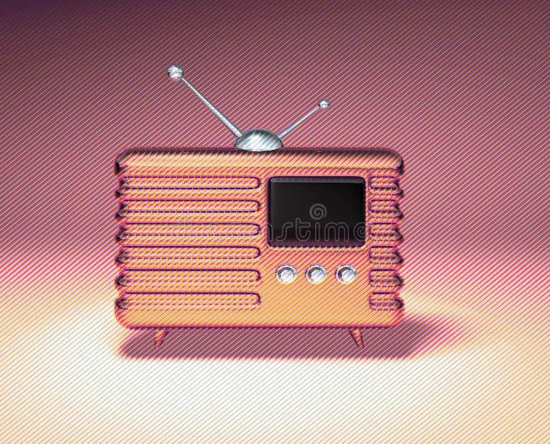 retro radiowego ilustracja wektor