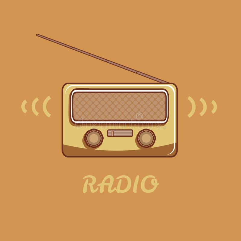 retro radiowego ilustracji